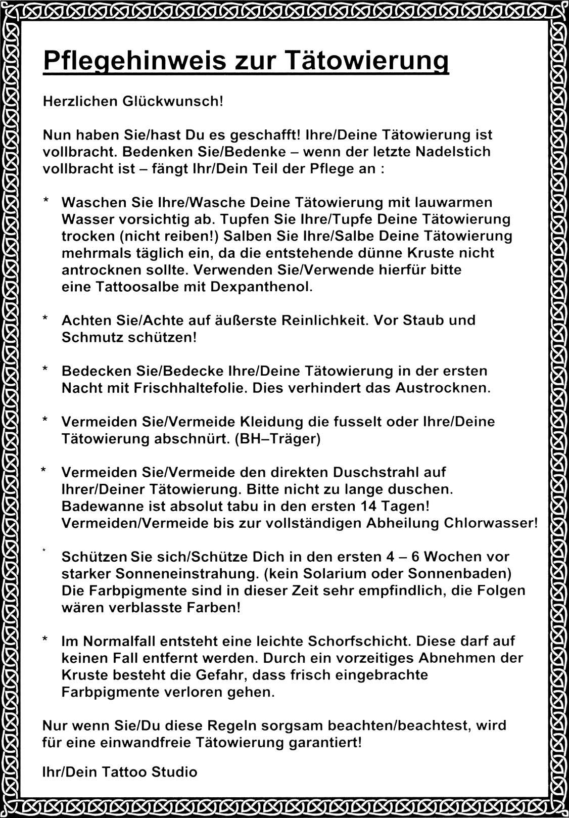 Infected Tattoo De Neunkirchen 66538 Saar